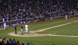 Baseball - Wrigley sistema i punti della pastella dentro Fotografie Stock Libere da Diritti