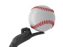 Baseball for you. Baseball ball on forefinger. Isolated Stock Images