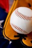Baseball: Zamyka Up na baseballu obraz royalty free