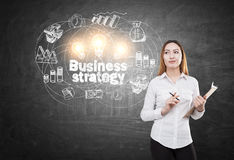 baseballa biznesowy biznesmena pojęcia ręki mienia strategii strajkowicz Zdjęcie Stock