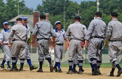 Baseballa ceremoniału uścisk dłoni Obrazy Royalty Free