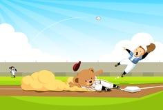 baseballa homerun niedźwiadkowy robi Zdjęcie Royalty Free