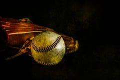 Baseballa i rękawiczki wieśniak zdjęcie royalty free