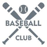 Baseballa klubu logo, prosty styl Obraz Royalty Free