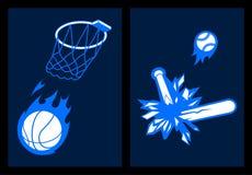 baseballa koszykówki wsadu uroczysty trzask ilustracja wektor