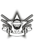 baseballa maski gwiazda royalty ilustracja