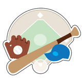 Baseballa materiał Zdjęcie Stock