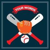 00348 baseballa odznaka Obraz Stock