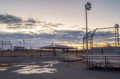 Baseballa park Przy świtem Zdjęcia Stock