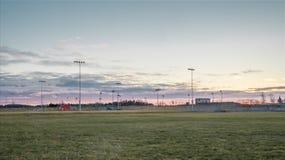 Baseballa park Przy świtem Obrazy Royalty Free