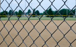 Baseballa pola ogrodzenie Fotografia Stock