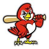 Baseballa ptaka maskotka Zdjęcia Stock
