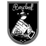 Baseballa sporta emblemat, odznaka szablonu wektoru ilustracja royalty ilustracja
