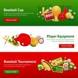 Baseballa sztandaru set Zdjęcie Stock
