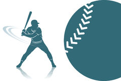 Baseballa tło royalty ilustracja