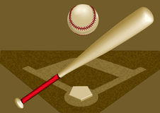 Baseballa tło Fotografia Royalty Free