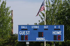Baseballanzeigetafel stockfotografie