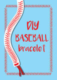 Baseballarmband und -zitat Stockbilder