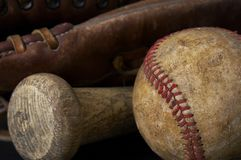 Baseballausrüstung Stockfotografie