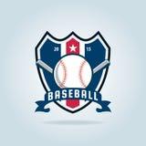 Baseballausweis-Sportlogo Lizenzfreie Stockfotografie