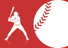 Baseballbakgrund Arkivfoto