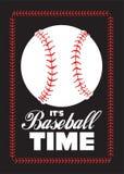 Baseballball und Zitatplakat Lizenzfreie Stockfotografie