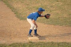 baseballbaseman tredje Royaltyfri Fotografi