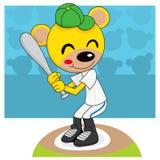 baseballbjörnnalle stock illustrationer