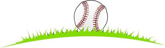 Baseballboll i gräset Royaltyfri Foto