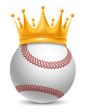 Baseballboll i krona stock illustrationer