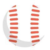 Baseballbollsymbol, vektorillustration vektor illustrationer