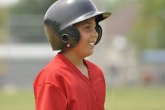 baseballcloseupspelare Arkivbilder