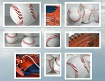 baseballcollage Arkivbilder