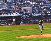 baseballcolorado nya rockies x yankees york Arkivfoton