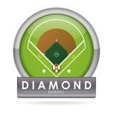 Baseballdesign Arkivbilder