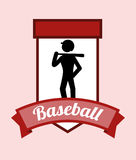Baseballdesign Royaltyfria Foton