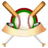 baseballdiagramillustration Royaltyfri Foto