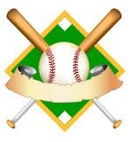 baseballdiagramillustration Royaltyfri Fotografi