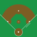 baseballdiamant Royaltyfria Foton
