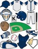 Baseballeinzelteile Lizenzfreies Stockfoto