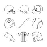 Baseballelement Stockbild
