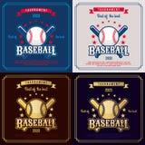 Baseballemblem Lizenzfreies Stockfoto