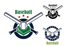 Baseballembleme und -symbole Lizenzfreies Stockbild