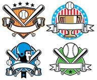 Baseballemblemuppsättning  Royaltyfria Bilder