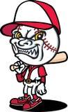 Baseballer diabolico illustrazione di stock