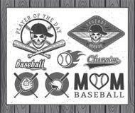 Baseballetiketter och emblem Arkivbilder