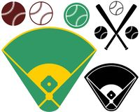 Baseballfält Royaltyfria Bilder