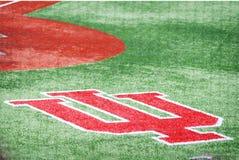 Baseballfält på Indiana University i Bloomington, Indiana Royaltyfri Foto
