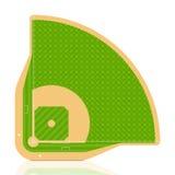 Baseballfeld. Vektor. Lizenzfreie Stockfotos