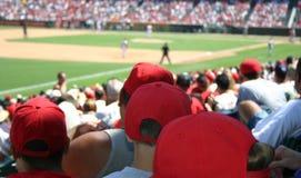 baseballfolkmassa arkivbild